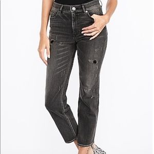 Express High Rise Original Straight Cropped Jeans
